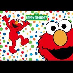 Elmo backdrop 5x3ft